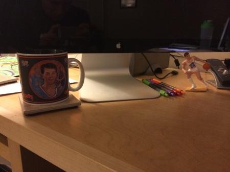 Nate's desk