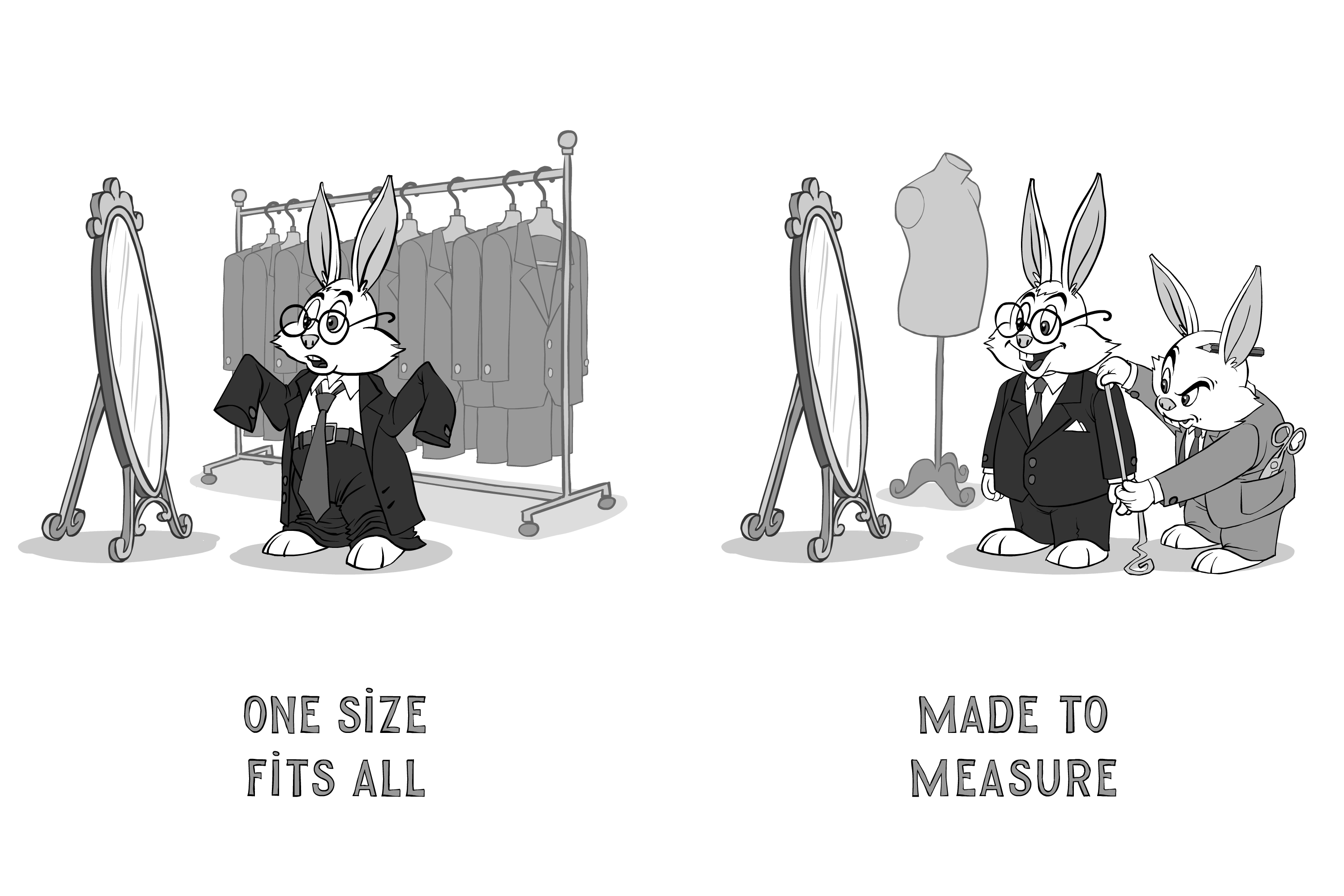 one size fits none, be specific