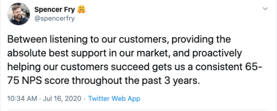 customer support is a huge way to reduce churn